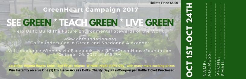 GreenHeart Raffle Campaign 2017